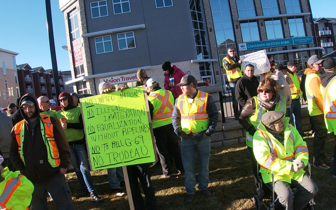 Yellow Vest Rally in Medicine Hat – Safety in Numbers for Canada